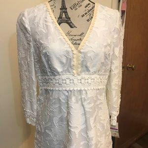 MICHAEL Michael Kors Womens Blouse Size 8 Lace